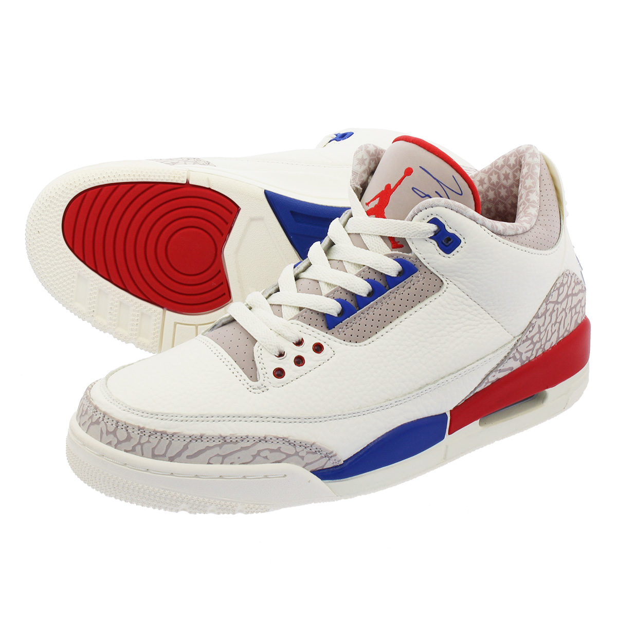f66678280f1 LOWTEX PLUS: NIKE AIR JORDAN 3 RETRO Nike Air Jordan 3 nostalgic SAIL/SPORT  ROYAL/FIRE RED 136,064-140 | Rakuten Global Market