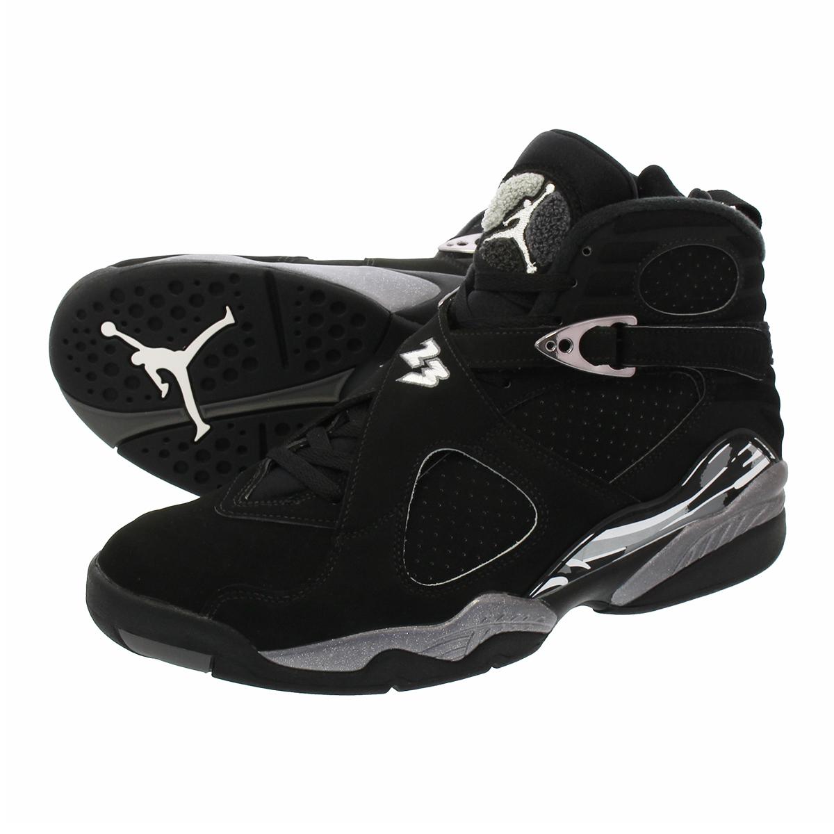 dc20ff25bc5 LOWTEX PLUS: NIKE AIR JORDAN 8 RETRO Nike Air Jordan 8 nostalgic BLACK/ CHROME 305,381-003 | Rakuten Global Market