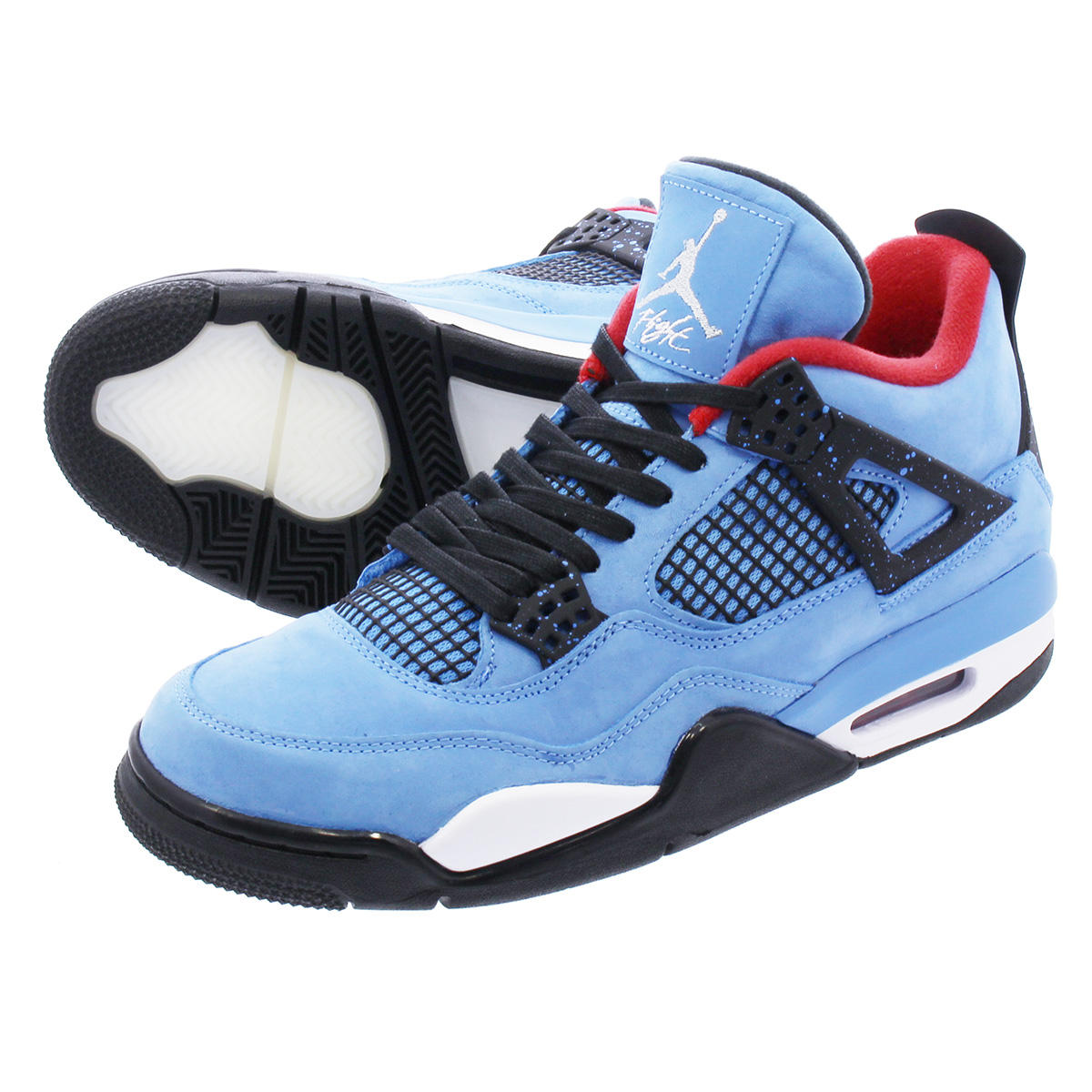 sports shoes e305b d0ec4 NIKE AIR JORDAN 4 RETRO Nike Air Jordan 4 nostalgic Travis Scot UNIVERSITY  BLUE/VARSITY RED/BLACK 308,497-406