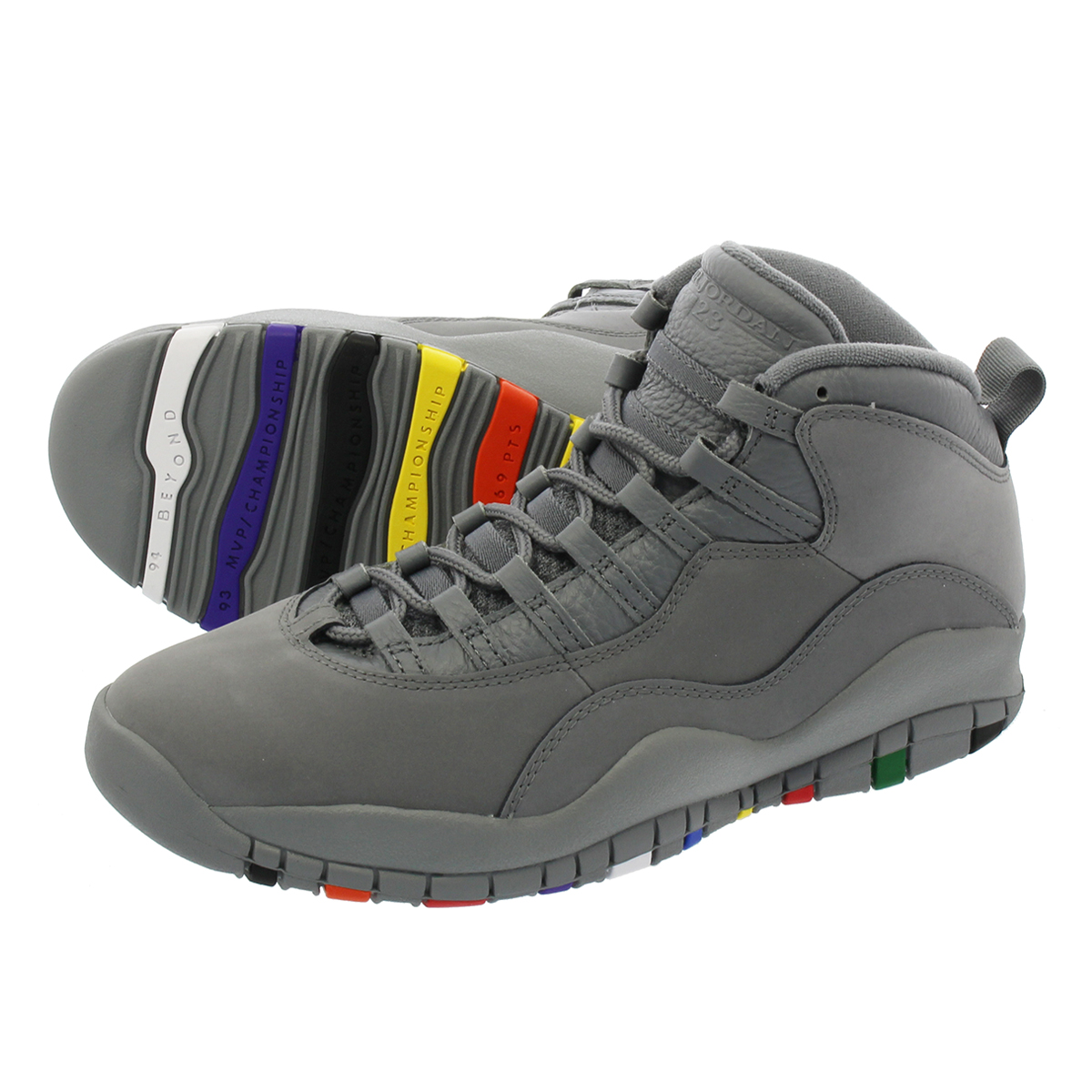 db3f20b44213 NIKE AIR JORDAN 10 RETRO Nike Air Jordan 10 nostalgic COOL GREY COOL GREY  WHITE