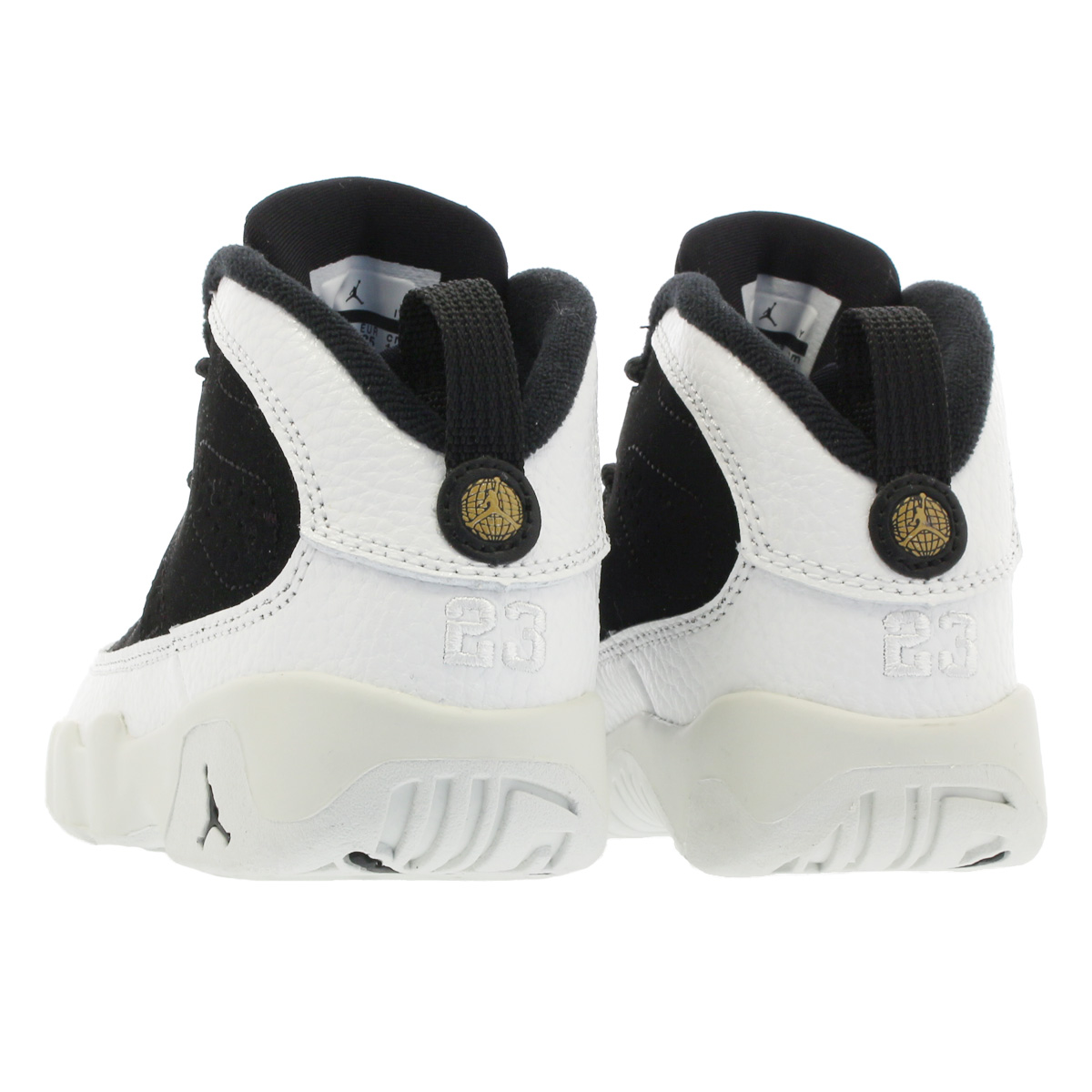 bbefe547dcd NIKE AIR JORDAN 9 RETRO TD나이키 에어 조던 9 레트르 TD BLACK SUMMIT WHITE METALLIC  GOLD 401812-021