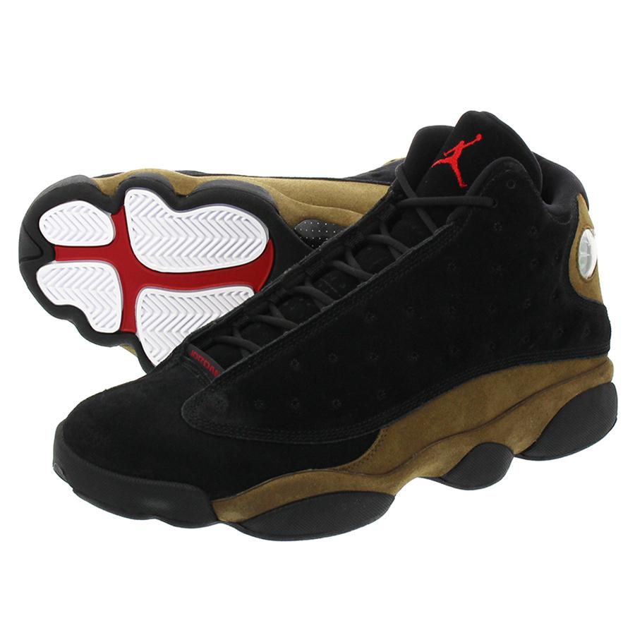 74f3f789d9c LOWTEX PLUS  NIKE AIR JORDAN 13 RETRO Nike Air Jordan 13 nostalgic BLACK TRUE  RED LIGHT OLIVE WHITE