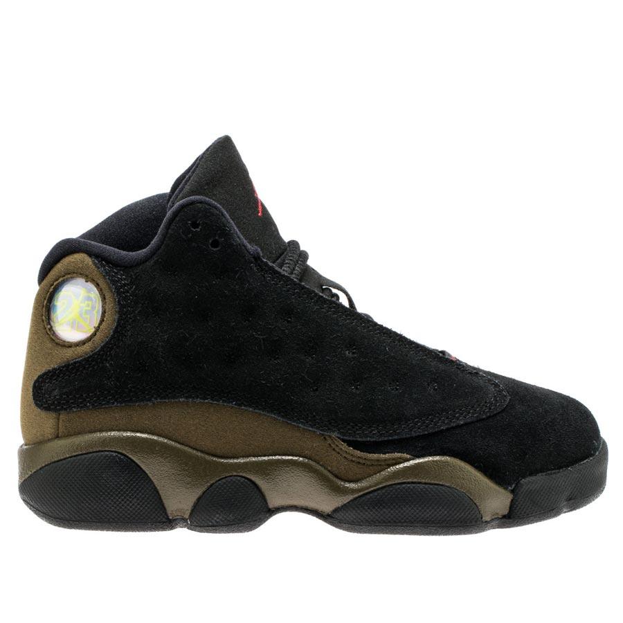 1c5b644fc2e NIKE AIR JORDAN 13 RETRO BP Nike Air Jordan 13 nostalgic BP BLACK TRUE RED LIGHT  OLIVE WHITE 414