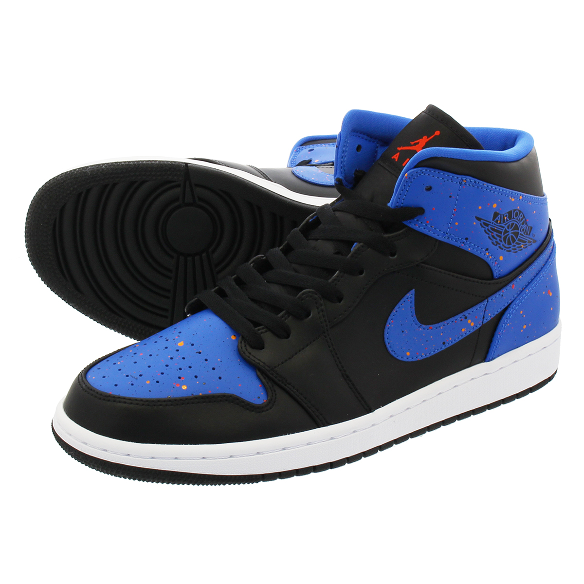 new styles 194c1 64a1f NIKE AIR JORDAN 1 MID Nike Air Jordan 1 mid BLACK/SIGNAL BLUE/ORANGE