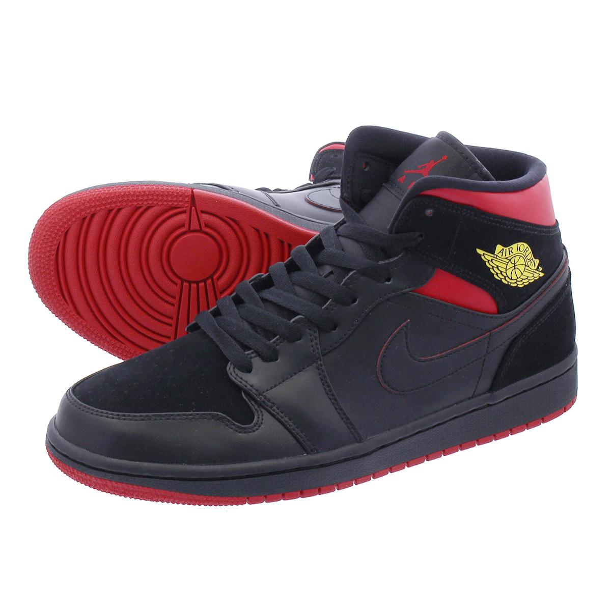 reputable site cde4e f594b NIKE AIR JORDAN 1 MID Nike Air Jordan 1 mid BLACK/VARSITY RED/YELLOW  554,724-076