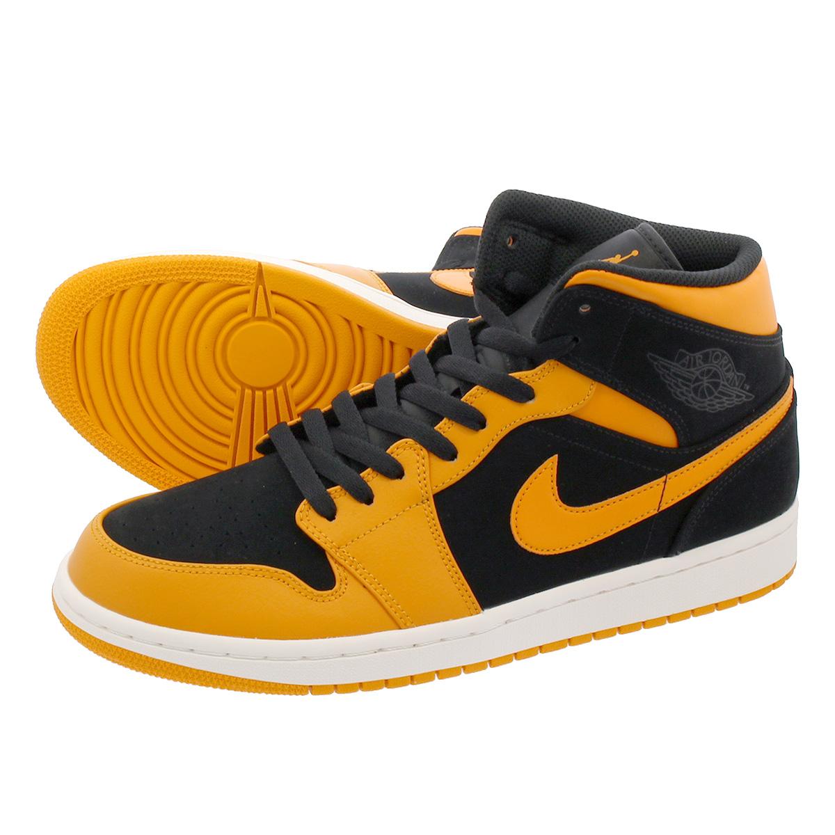 60018448e6d LOWTEX PLUS: NIKE AIR JORDAN 1 MID Nike Air Jordan 1 mid BLACK/ORANGE PEEL/SAIL  554,724-081 | Rakuten Global Market