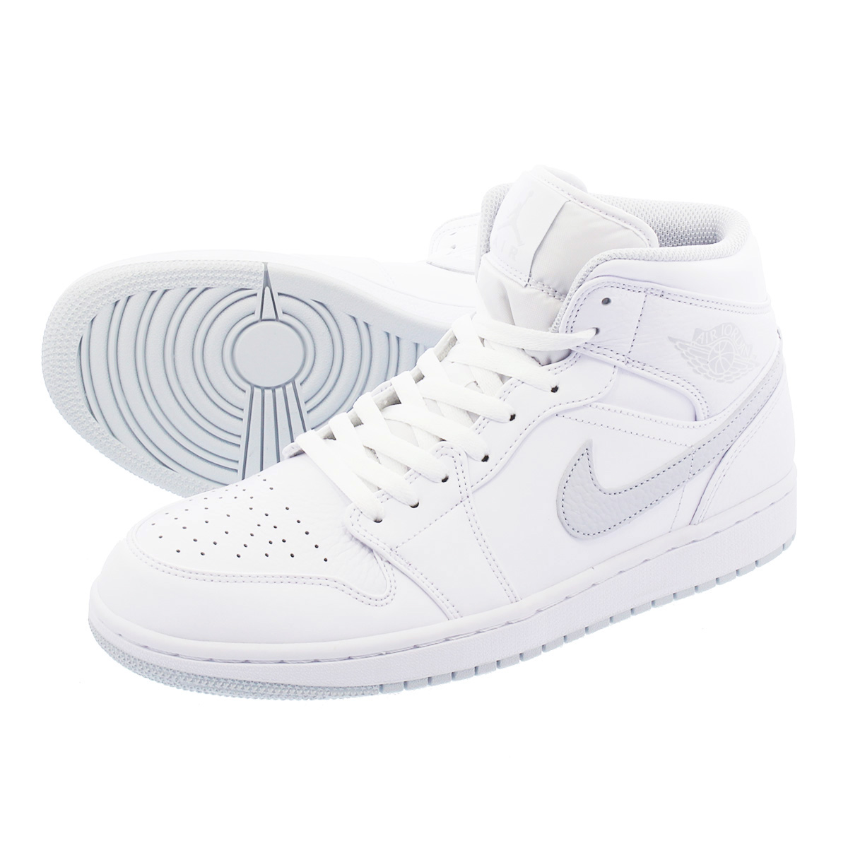 NIKE AIR JORDAN 1 MID ナイキ エア ジョーダン 1 ミッド WHITE/PURE PLATINUM/WHITE 554724-108