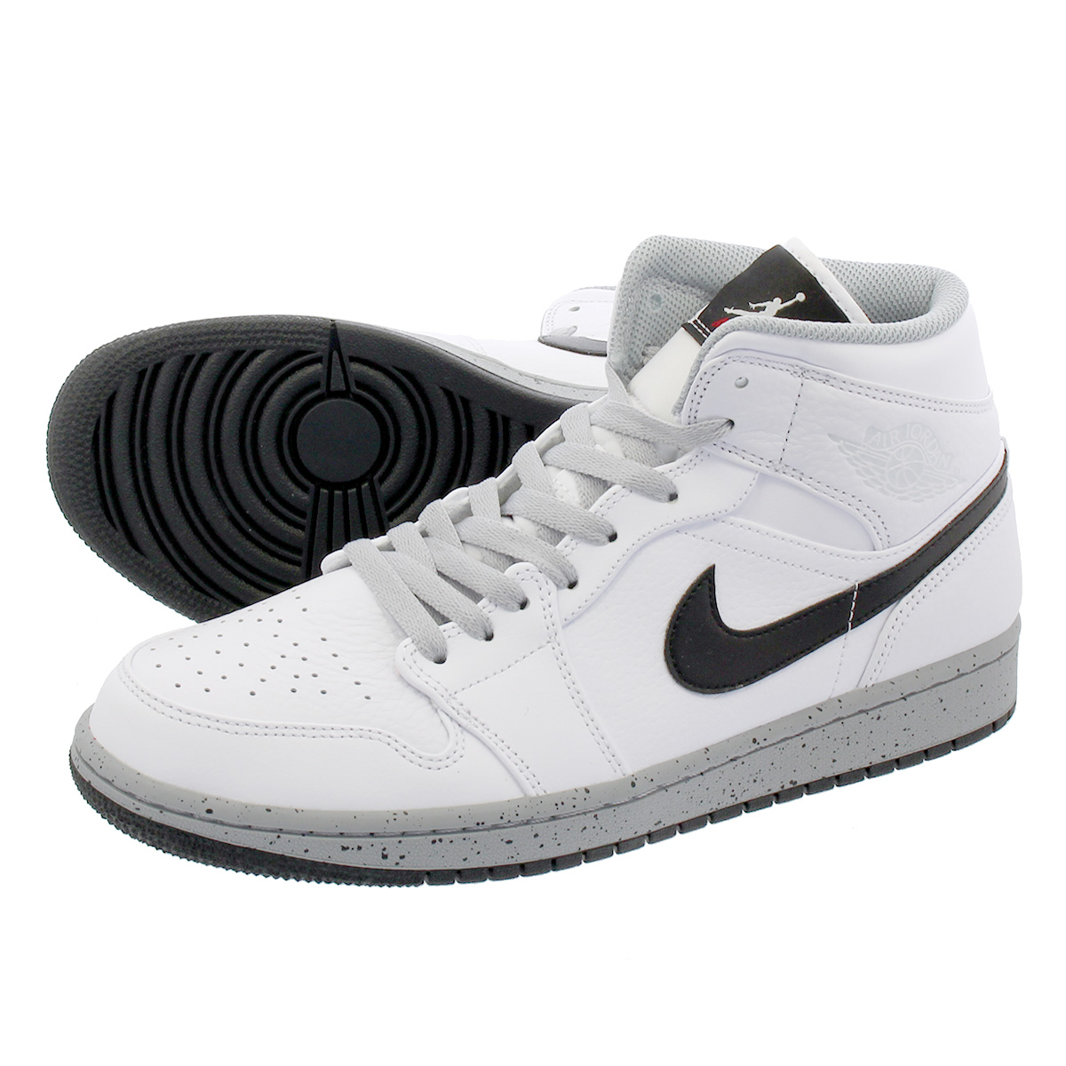 54d673e8f4642a LOWTEX PLUS  NIKE AIR JORDAN 1 MID Nike Air Jordan 1 mid WHITE WOLF GREY BLACK  554