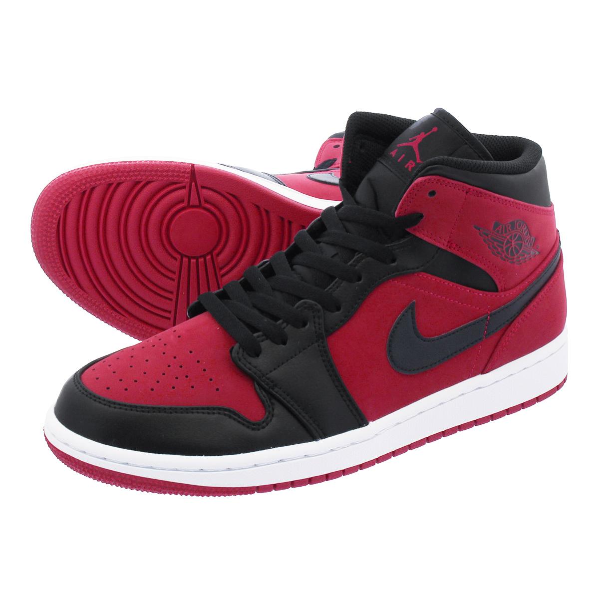 LOWTEX PLUS  NIKE AIR JORDAN 1 MID Nike Air Jordan 1 mid GYM RED ... 905f6d49e0e0
