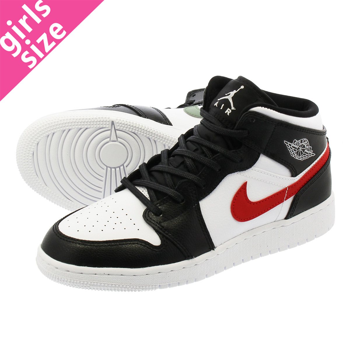 promo code 2b35a 00ad9 NIKE AIR JORDAN 1 MID BG Nike Air Jordan 1 mid BG  BLACK/WHITE/RED/YELLOW/BLUE/GREEN 554,725-052