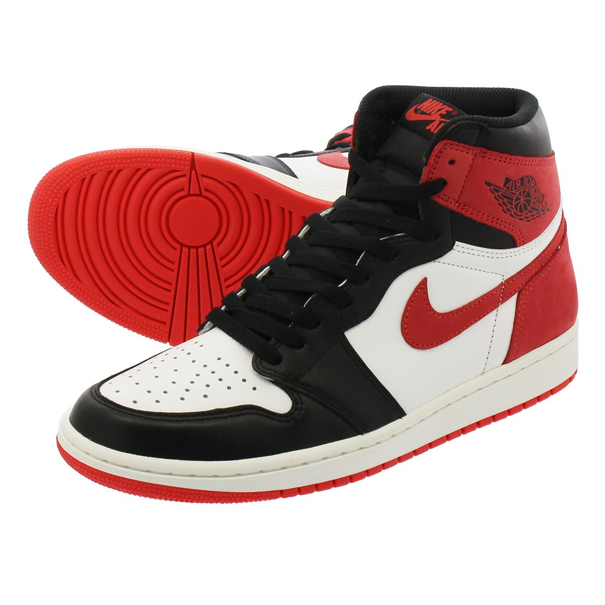 7e7d2252169c NIKE AIR JORDAN 1 RETRO HIGH OG Nike Air Jordan 1 nostalgic high OG SUMMIT  WHITE BLACK TRACK RED