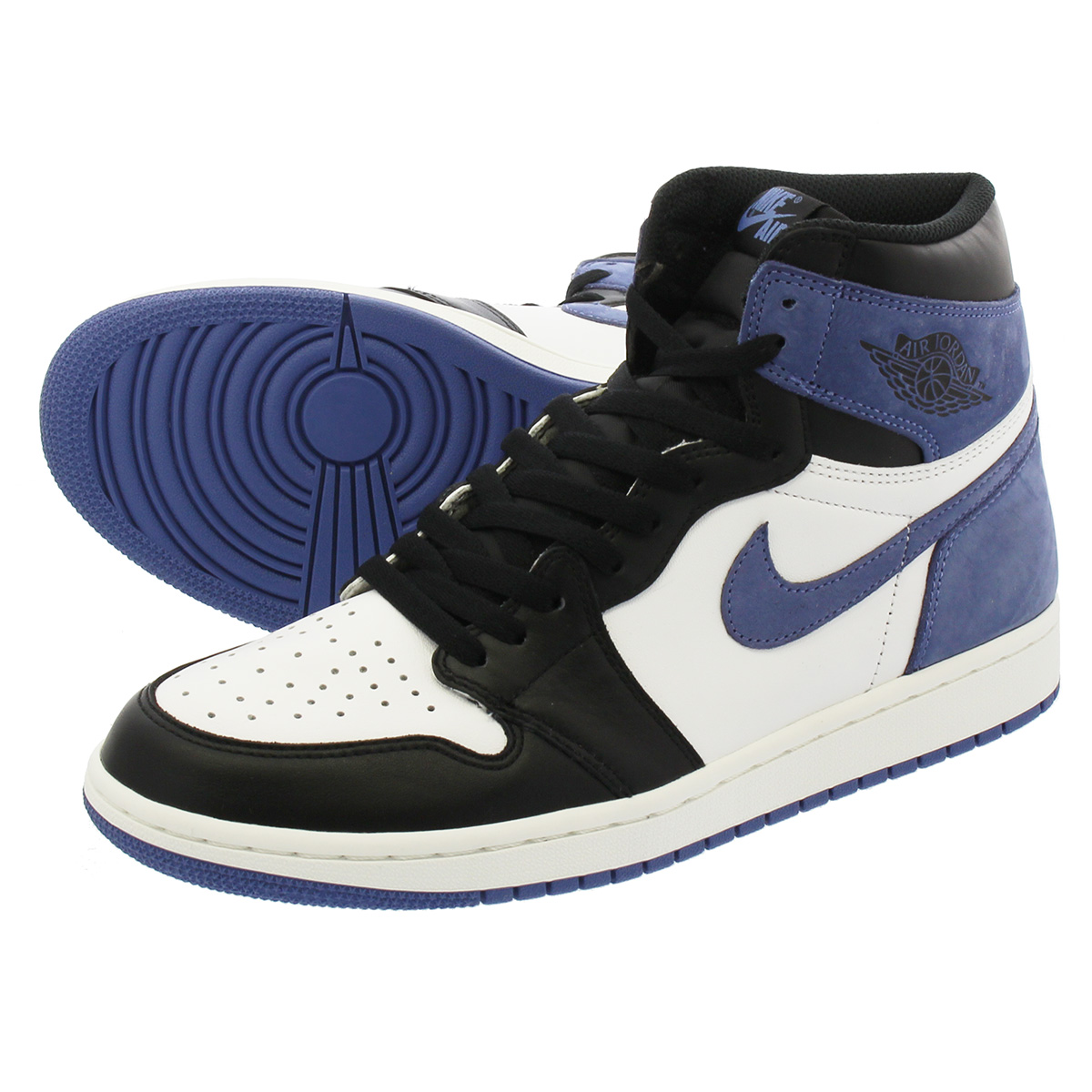 the latest 10e65 60e91 NIKE AIR JORDAN 1 RETRO HIGH OG Nike Air Jordan 1 nostalgic high OG SUMMIT  WHITE/BLUE MOON/BLACK 555,088-115
