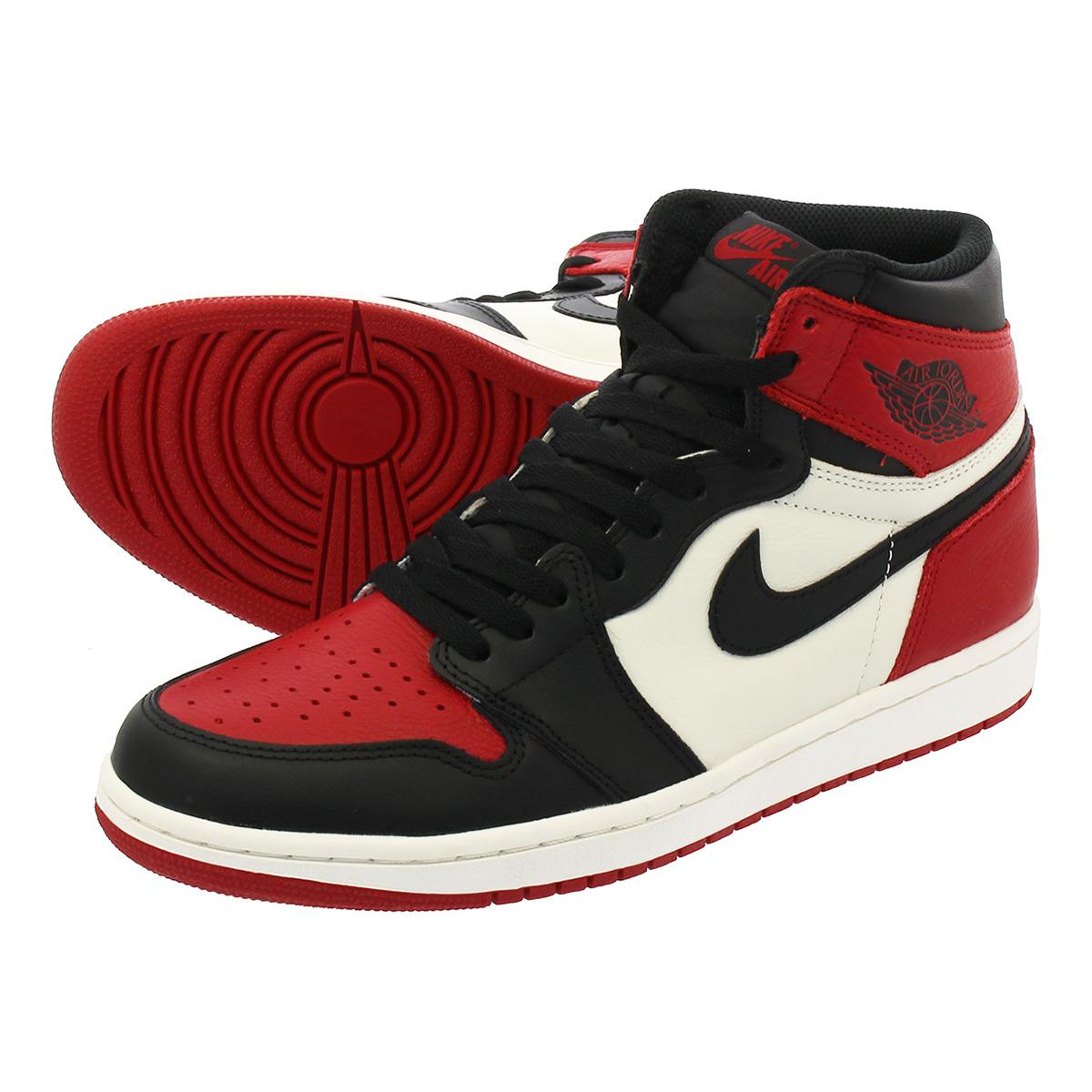 NIKE AIR JORDAN 1 RETRO HIGH OG Nike Air Jordan 1 nostalgic high OG GYM RED  BLACK SUMMIT WHITE a3cc4186e