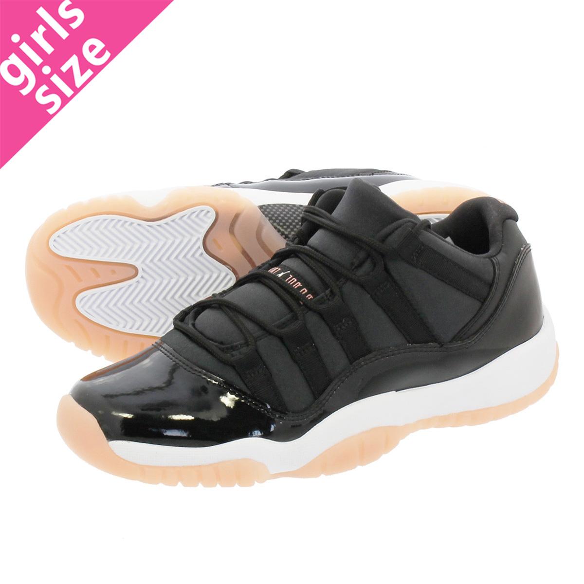 1549a1b33a4 NIKE AIR JORDAN 11 RETRO LOW GG Nike Air Jordan 11 nostalgic low BG BLACK BLEACHED  CORAL WHITE 580