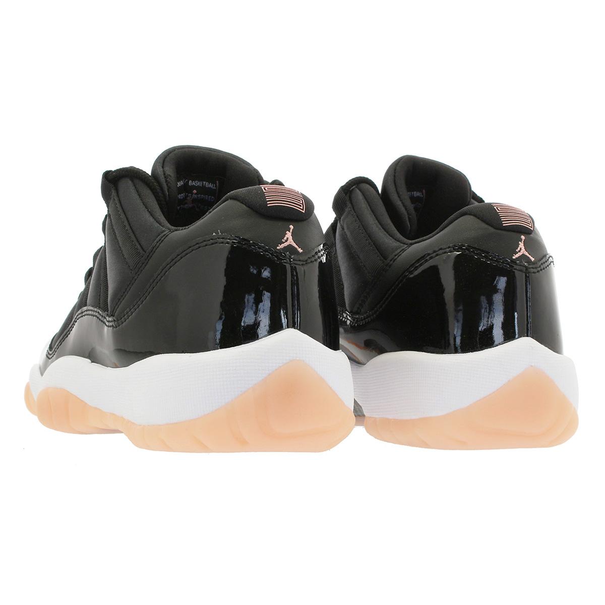 73cfe8f881c3 NIKE AIR JORDAN 11 RETRO LOW GG Nike Air Jordan 11 nostalgic low BG BLACK BLEACHED  CORAL WHITE 580