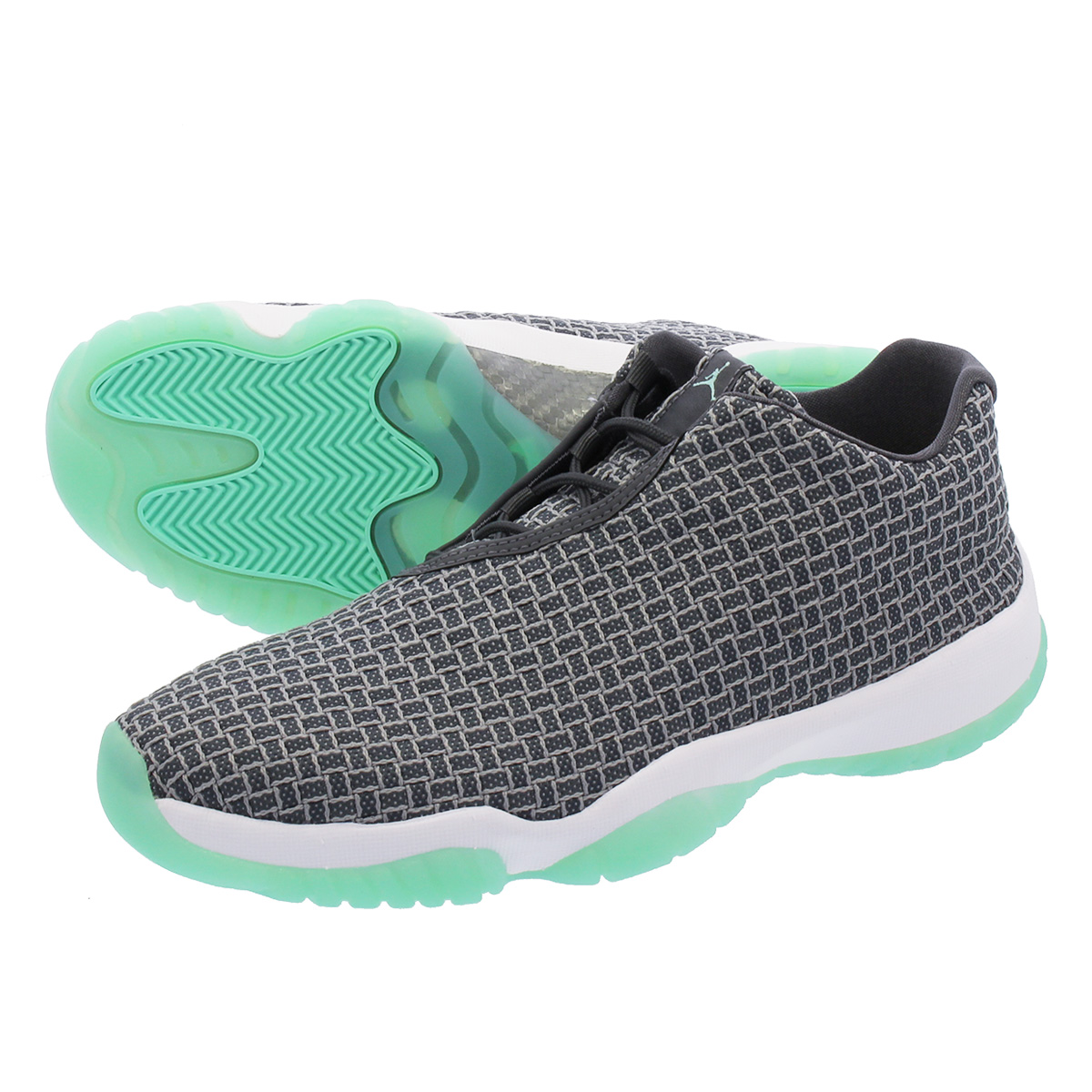 sale retailer 68e19 44273 NIKE AIR JORDAN FUTURE LOW Nike Air Jordan future low WOLF GREY EMERALD  RISE WHITE 718,948-006