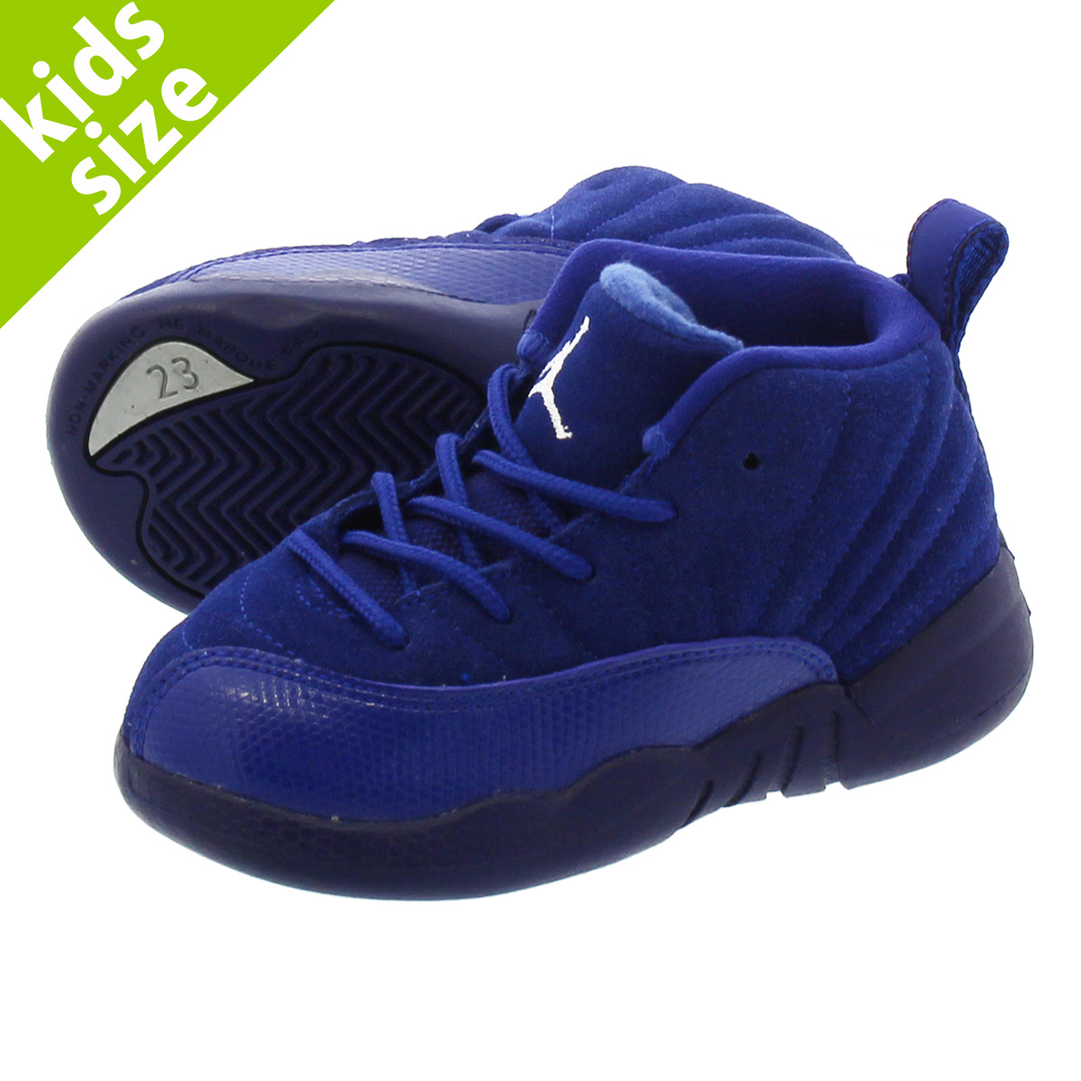 【ベビー サイズ】【8cm-16cm】 NIKE AIR JORDAN 12 RETRO TD ナイキ エア ジョーダン12 レトロ TD DEEP ROYAL BLUE/METALLIC SILVER/WHITE 850000-400