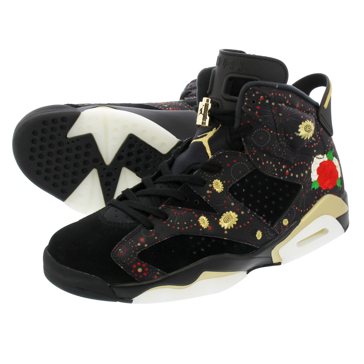 711fa2efb256 NIKE AIR JORDAN 6 RETRO CNY Nike Air Jordan 6 nostalgic CNY BLACK MULTI  COLOR SUMMIT WHITE METALLIC GOLD
