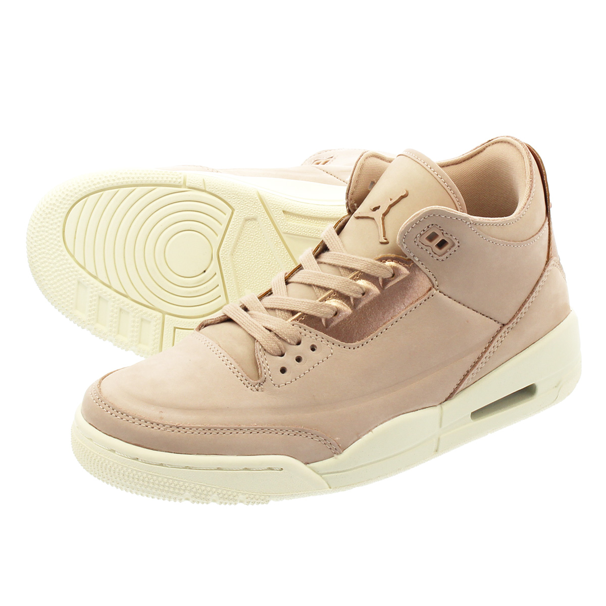 a88b7e6a552 LOWTEX PLUS: NIKE WMNS AIR JORDAN 3 RETRO SE Nike women Air Jordan 3  nostalgic PARTICLE BEIGE/METALLIC RED BRONZE/SAIL ah7859-205 | Rakuten  Global Market