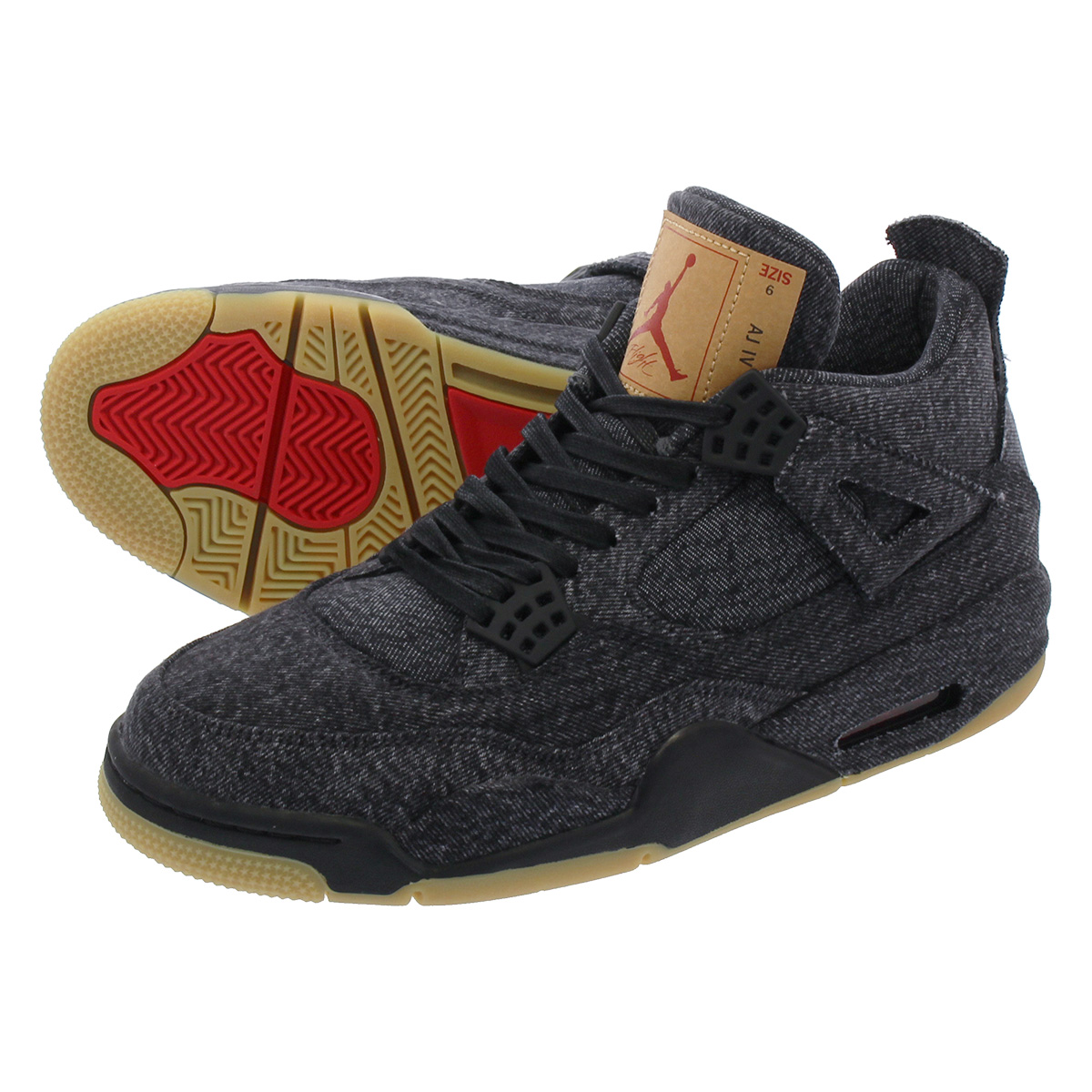 quality design 5966a d315d NIKE AIR JORDAN 4 RETRO NRG Nike air Jordan 4 nostalgic NRG Levis BLACK BLACK  ao2571-001
