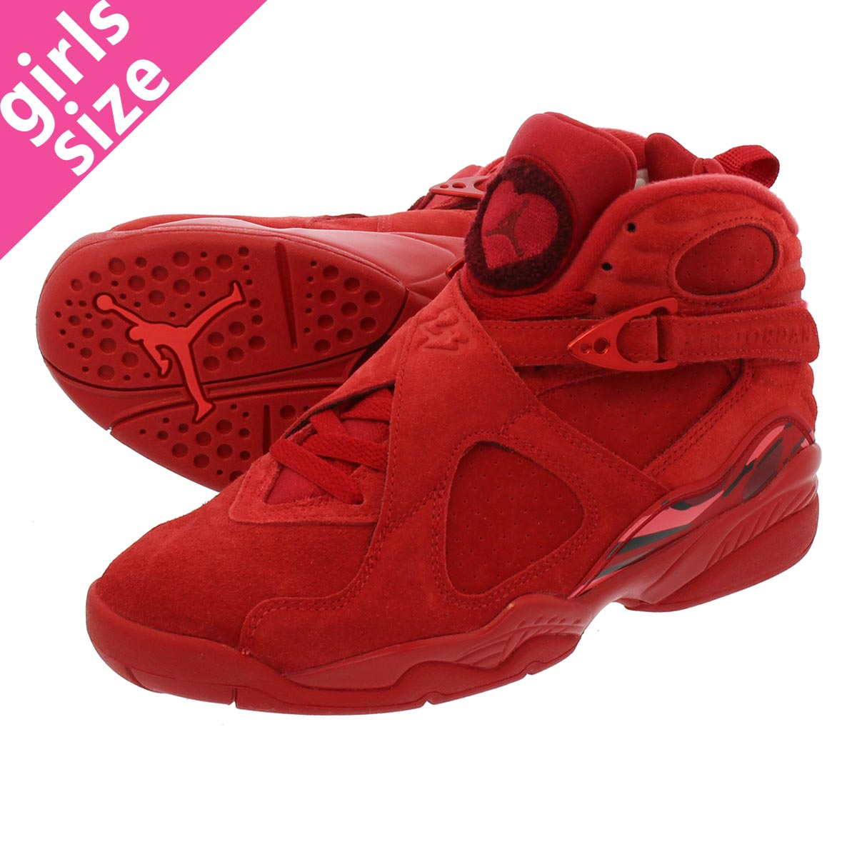 a42d183a5d9c NIKE WMNS AIR JORDAN 8 RETRO VDAY Nike women Air Jordan 8 nostalgic GYM RED EMBER  GLOW TEAM RED