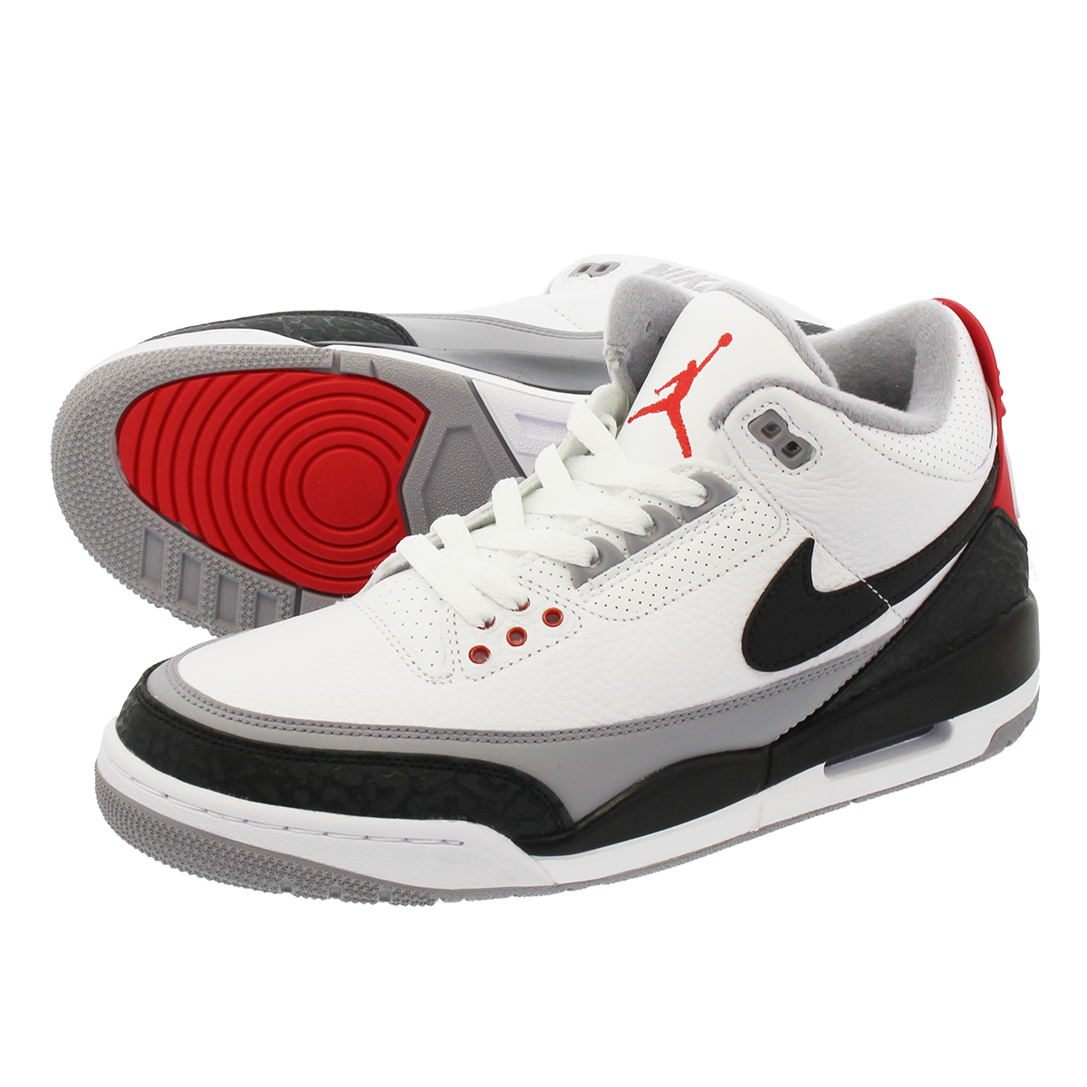 NIKE AIR JORDAN 3 RETRO TINKER NRG ナイキ エア ジョーダン 3 レトロ ティンカー NRG WHITE/FIRE RED/CEMENT GREY/BLACK aq3835-160