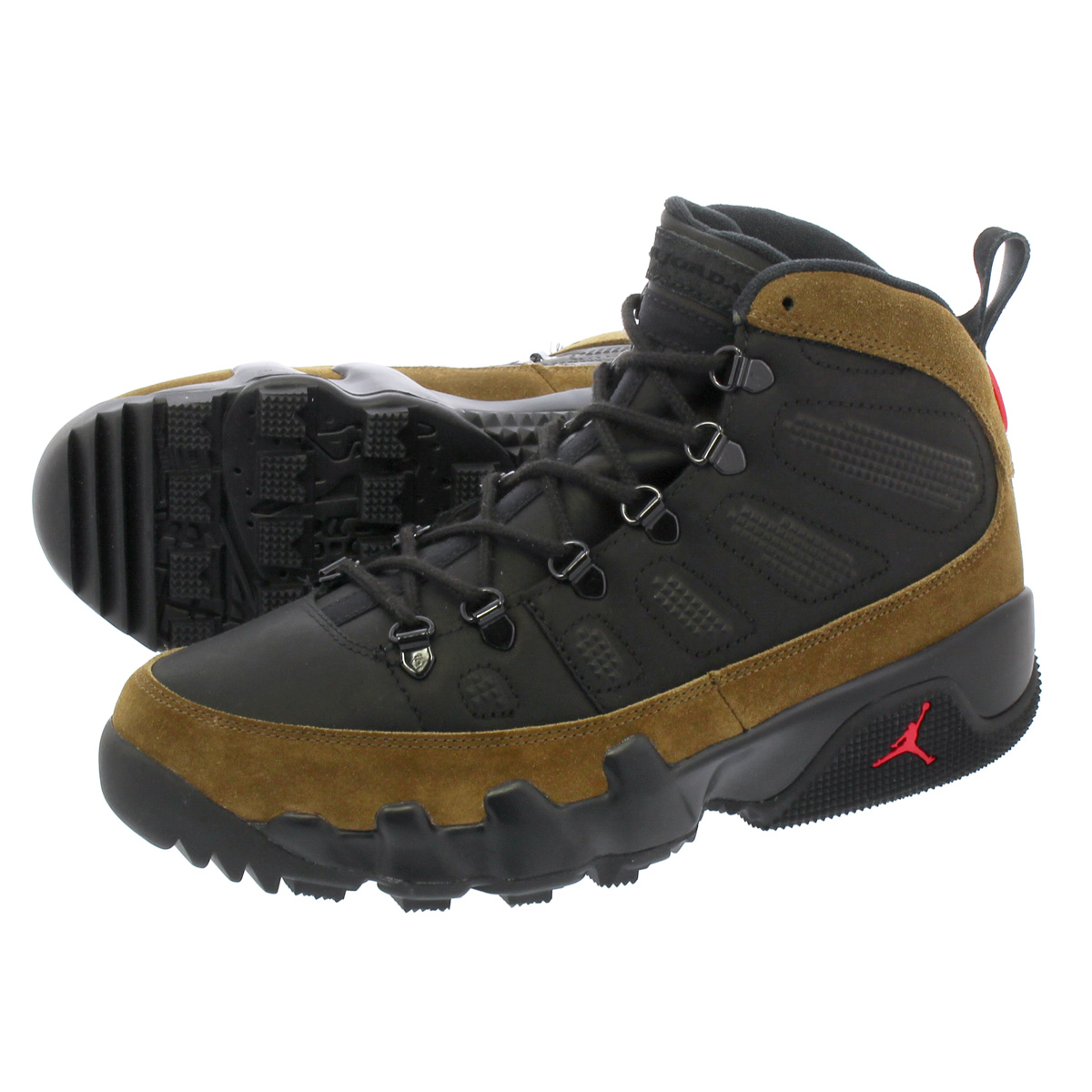 los angeles 29dda 65859 NIKE AIR JORDAN 9 RETRO NRG Nike air Jordan 9 nostalgic NRG BLACK TRUE  RED LIGHT OLIVE