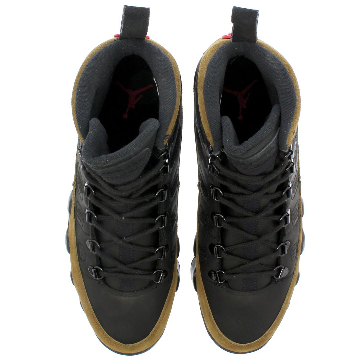 bb145d09dcf5 NIKE AIR JORDAN 9 RETRO NRG Nike air Jordan 9 nostalgic NRG BLACK TRUE RED LIGHT  OLIVE