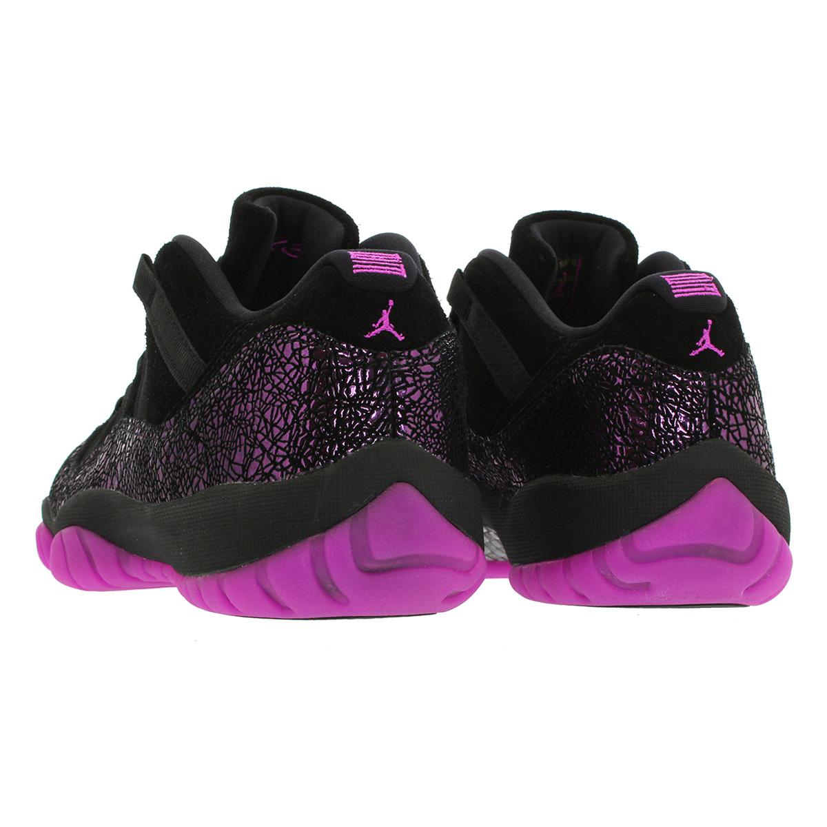 watch b2304 85e01 NIKE WMNS AIR JORDAN 11 RETRO LOW Nike women Air Jordan 11 nostalgic low  BLACK/FUCHSIA BLAST ar5149-005