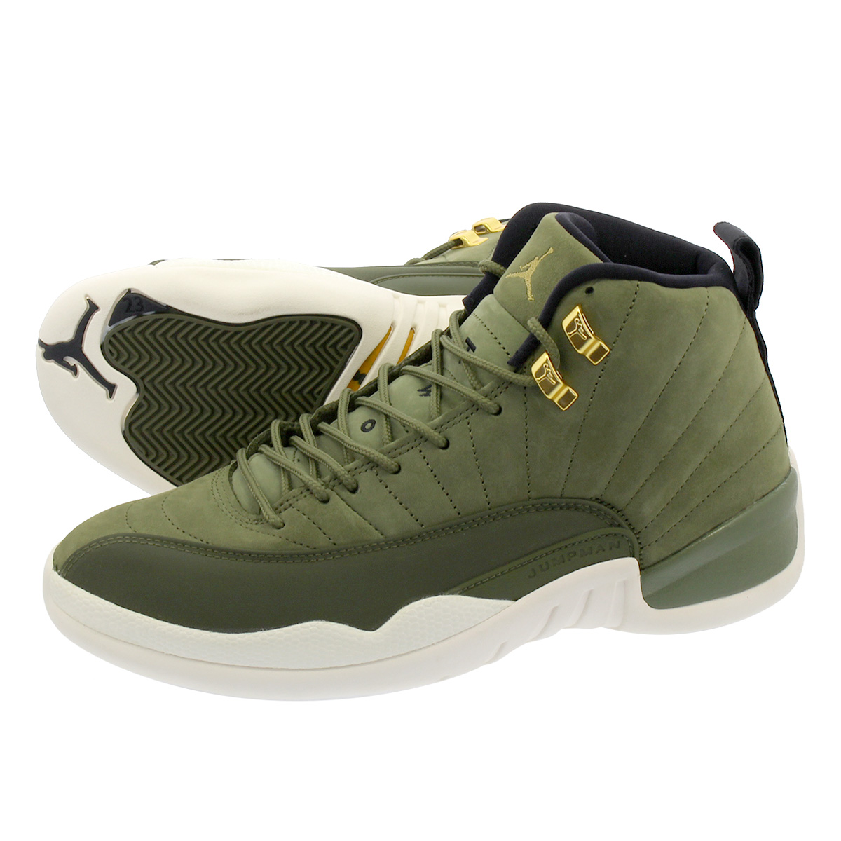 NIKE AIR JORDAN 12 RETRO 【CLASS OF 2003】 ナイキ エア ジョーダン 12 レトロ OLIVE CANVAS/METALLIC GOLD/BLACK/SAIL 130690-301