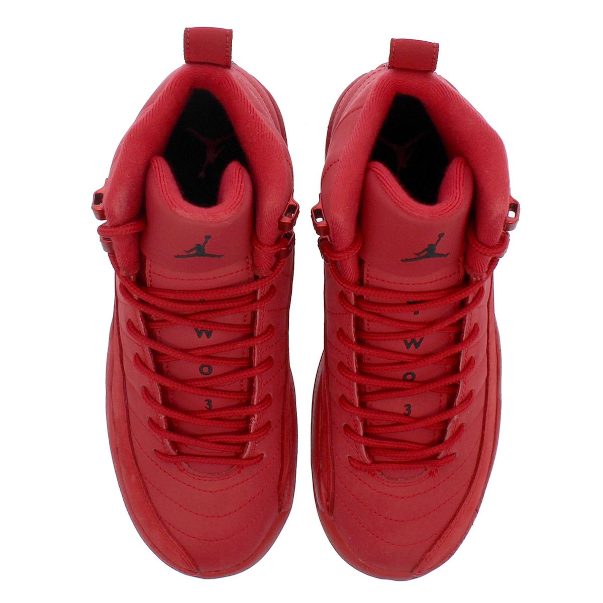 quality design 84aff c409a NIKE AIR JORDAN 12 RETRO GS Nike Air Jordan 12 nostalgic GS GYM RED BLACK  153,265-601