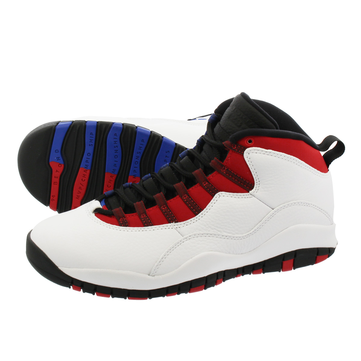 purchase cheap c05e6 2ef67 NIKE AIR JORDAN 10 RETRO Nike Air Jordan 10 nostalgic  WHITE/BLACK/UNIVERSITY RED/HYPER ROYAL 310,805-160