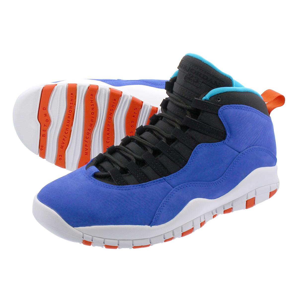 "AIR JORDAN 10 RETRO TINKER /""HUARACHE LIGHT/"" 310805-408 Racer Blue Team Orange"