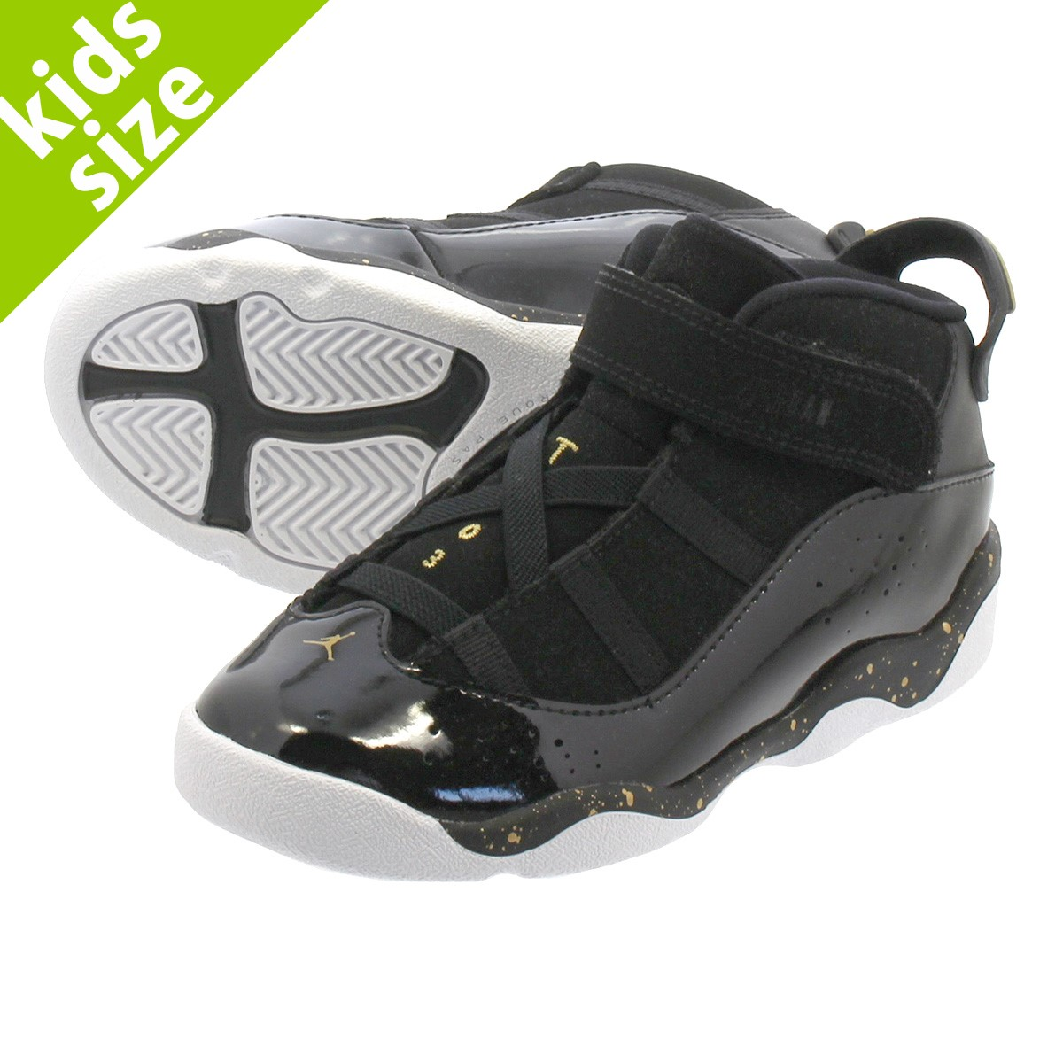 pretty nice a610a 9fa3e NIKE JORDAN 6 RINGS TD Nike Jordan 6 RINGS Co.,Ltd. TD BLACK/METALLIC  GOLD/WHITE 323,420-007