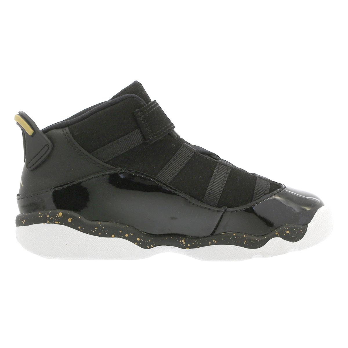 pretty nice ad5f9 52499 NIKE JORDAN 6 RINGS TD Nike Jordan 6 RINGS Co.,Ltd. TD BLACK/METALLIC  GOLD/WHITE 323,420-007