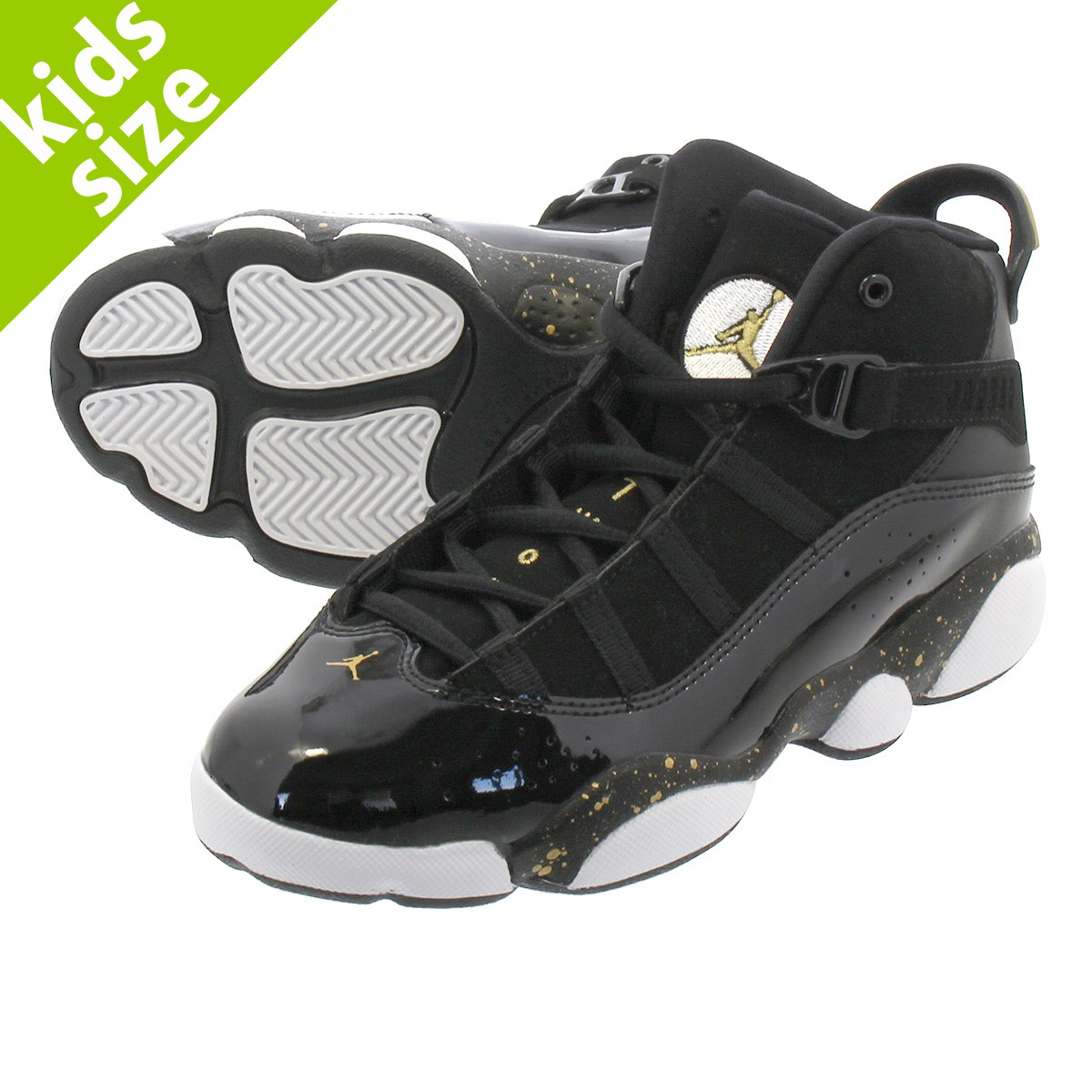 pretty nice d722f 1e57b NIKE JORDAN 6 RINGS BP Nike Jordan 6 RINGS Co.,Ltd. BP BLACK/METALLIC  GOLD/WHITE 323,432-007