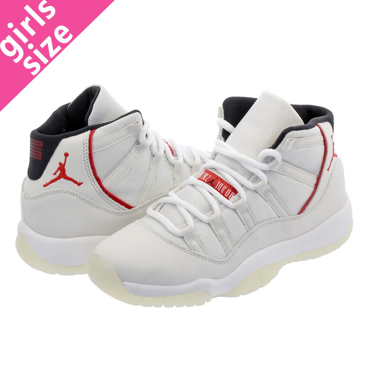 d47d4c9a1 NIKE AIR JORDAN 11 RETRO BG Nike Air Jordan 11 nostalgic BG PLATINUM TINT  SAIL UNIVERSITY RED 378