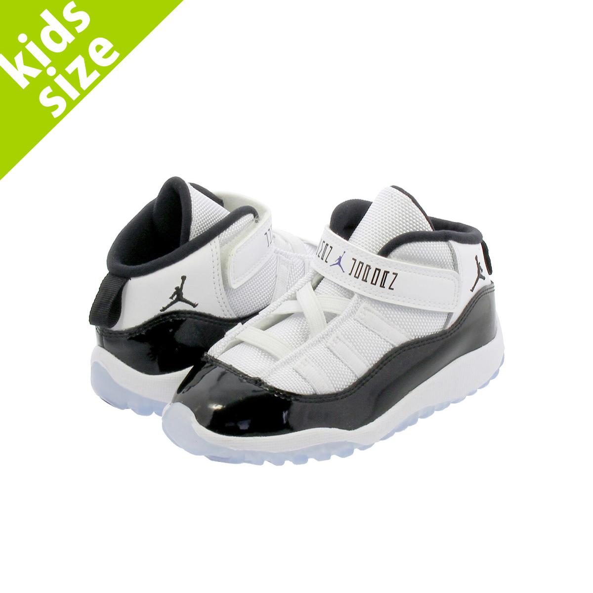 d5056d2ed027 NIKE AIR JORDAN 11 RETRO BT Nike Air Jordan 11 nostalgic BT WHITE CONCORD BLACK  378
