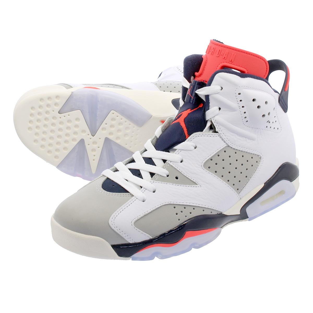 5eced4c99778ad NIKE AIR JORDAN 6 RETRO Nike Air Jordan 6 nostalgic WHITE INFRARED 23 GREY SAIL  384