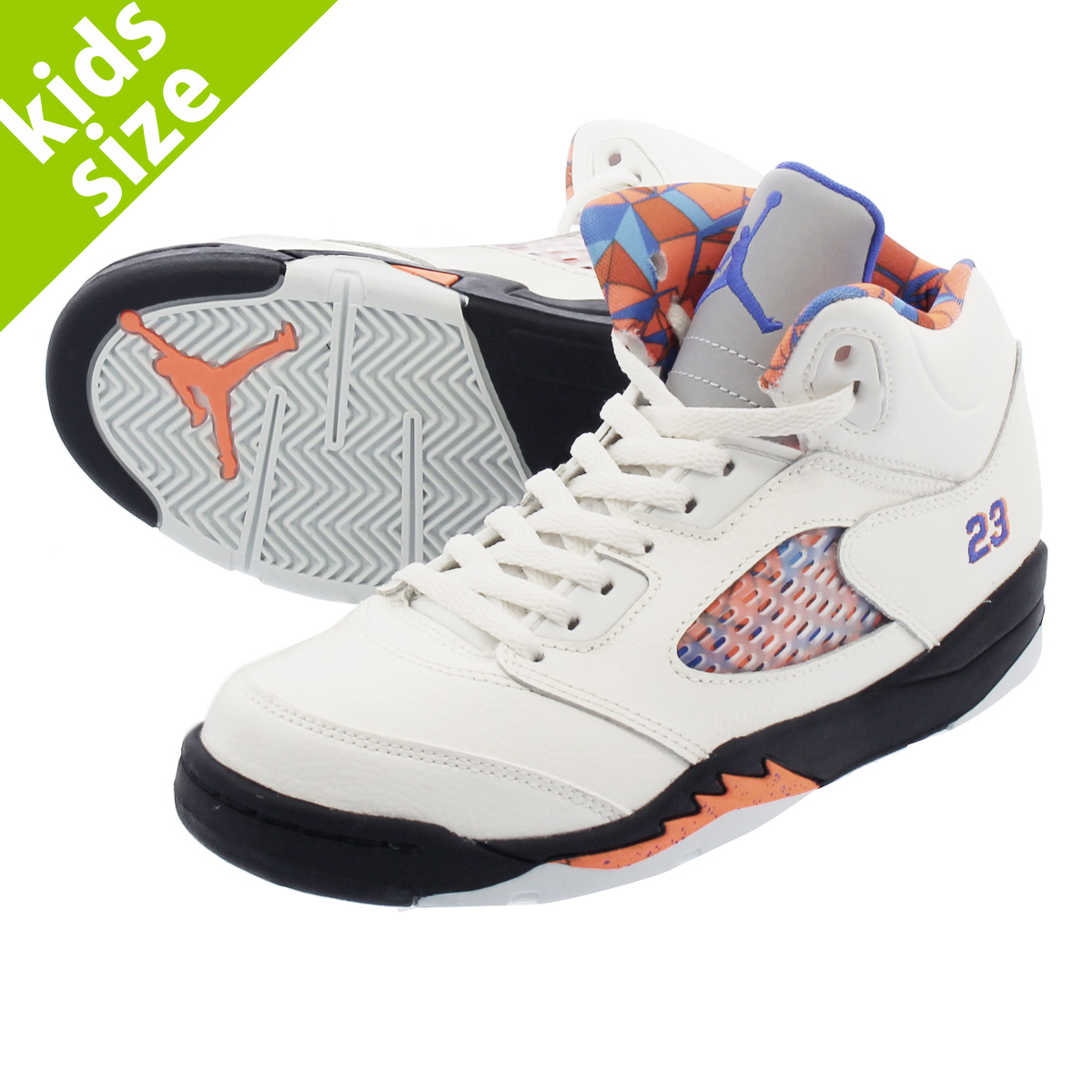 new styles a7d75 cb8c8 NIKE AIR JORDAN 5 RETRO BP Nike Air Jordan 5 nostalgic BP SAIL RACER BLUE CONE BLACK  440,889-148