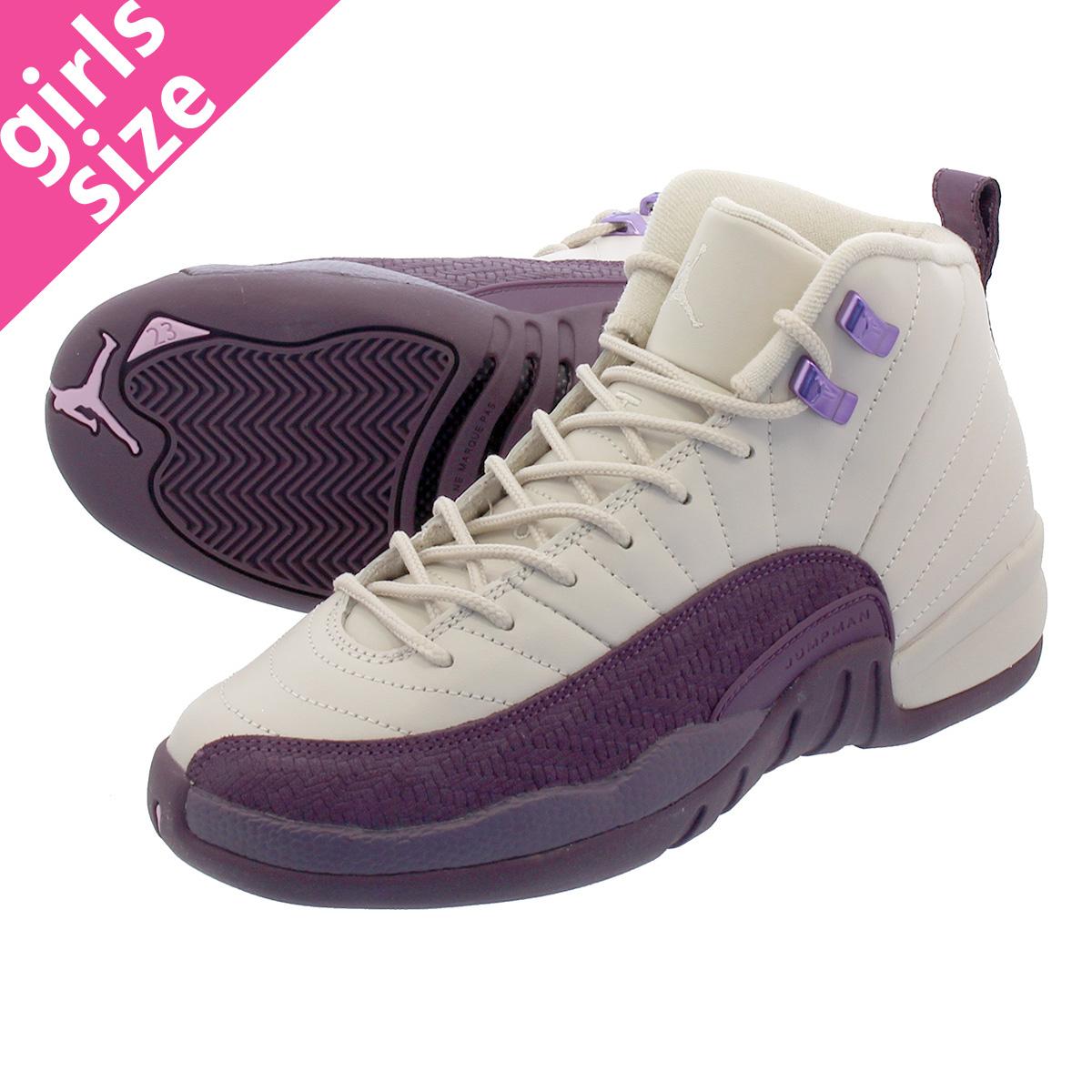 LOWTEX PLUS  NIKE AIR JORDAN 12 RETRO GS Nike Air Jordan 12 nostalgic GS  DESERT SAND DESERT SAND PRO PURPLE 510 b89d5d729