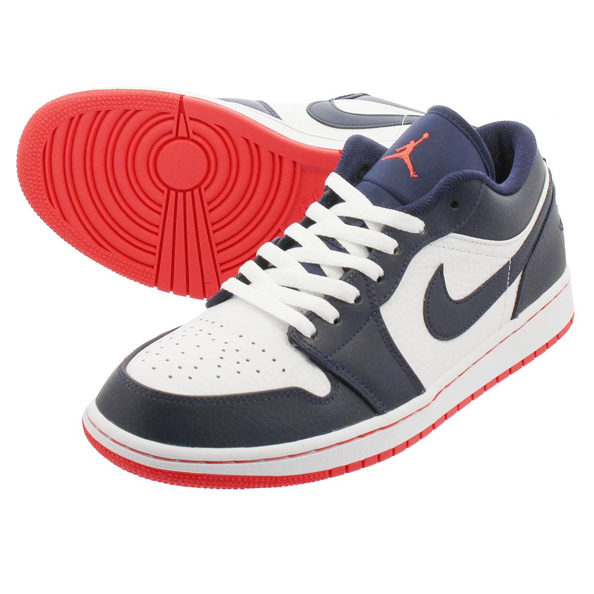 sale retailer e42b9 81936 NIKE AIR JORDAN1 LOW Nike Air Jordan 1 nostalgic low OBSIDIAN EMBER  GLOW WHITE 553,558-481
