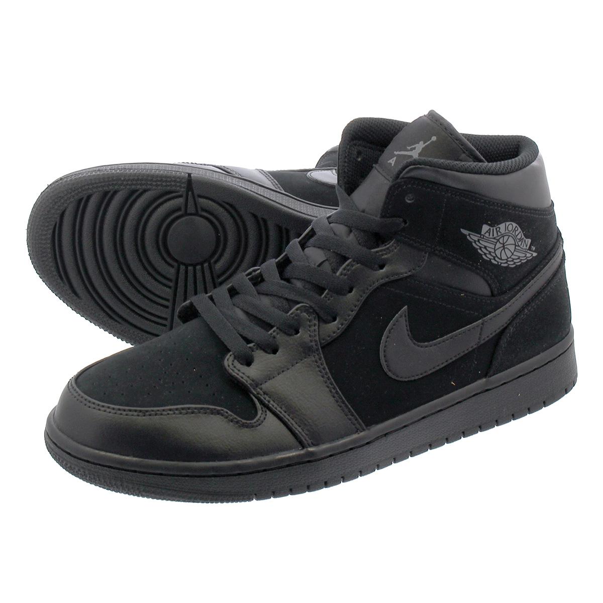 hot sale online 05f56 e3ddf NIKE AIR JORDAN 1 MID Nike Air Jordan 1 mid BLACK DARK GREY BLACK ...