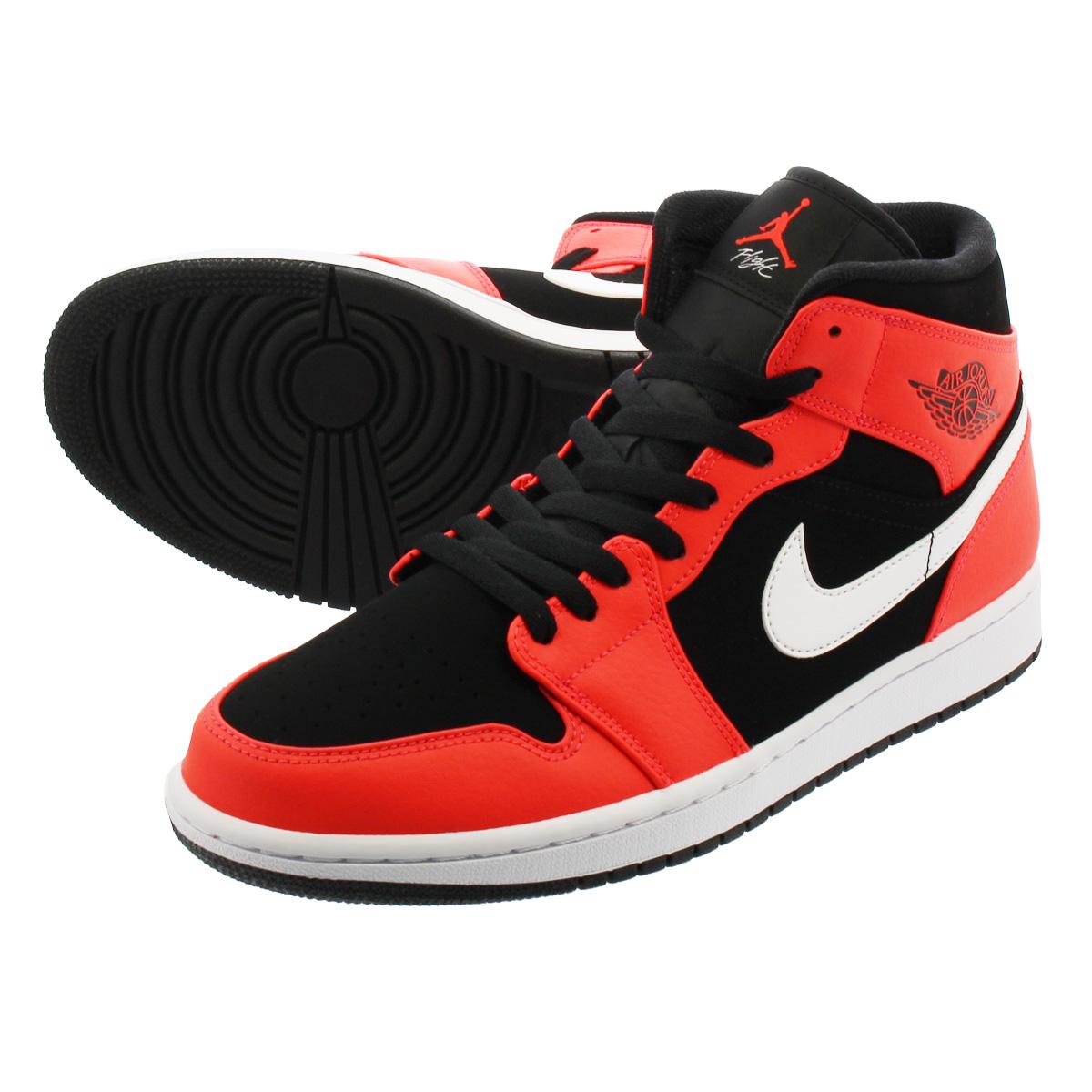 99bd2ae00dc NIKE AIR JORDAN 1 MID Nike Air Jordan 1 mid BLACK INFRARED 23 WHITE  554