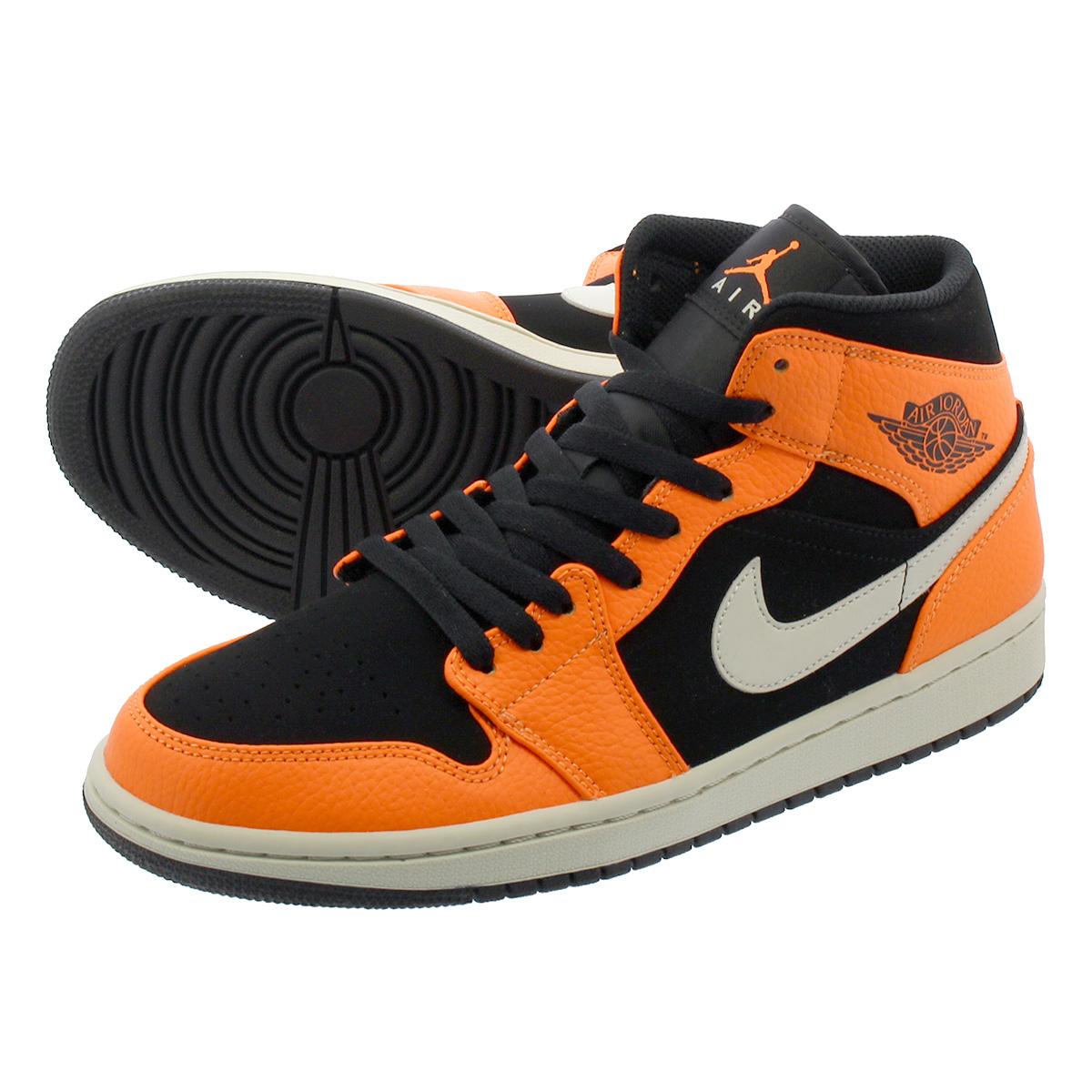 4769651cbd6b NIKE AIR JORDAN 1 MID Nike Air Jordan 1 mid BLACK CONE LIGHT BONE ORANGE  554