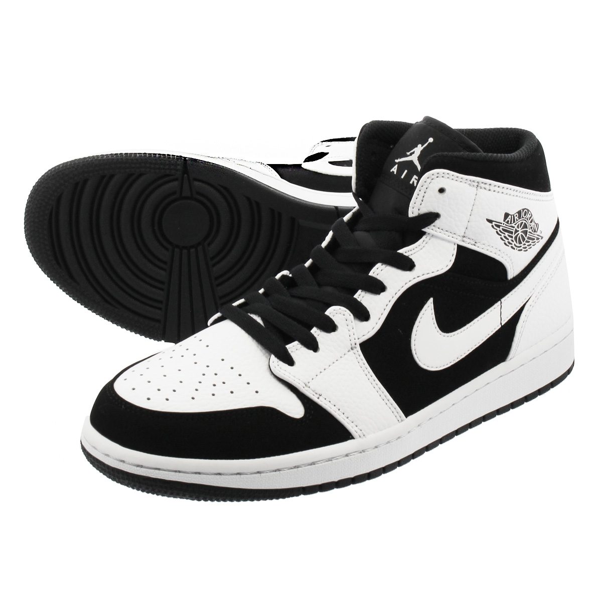 best loved e81e6 eb74f NIKE AIR JORDAN 1 MID Nike Air Jordan 1 mid WHITE BLACK 554,724-113 ...