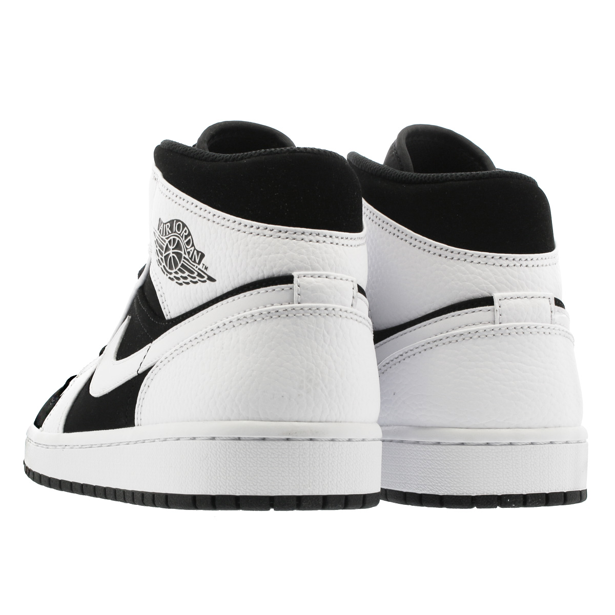 los angeles 255d8 a0570 ... NIKE AIR JORDAN 1 MID Nike Air Jordan 1 mid WHITE BLACK 554,724-113 ...