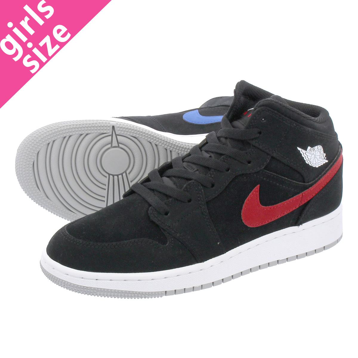 look for 562ea 09fb7 NIKE AIR JORDAN 1 MID BG Nike Air Jordan 1 mid BG BLACK WHITE RED YELLOW BLUE GREEN  554,725-065