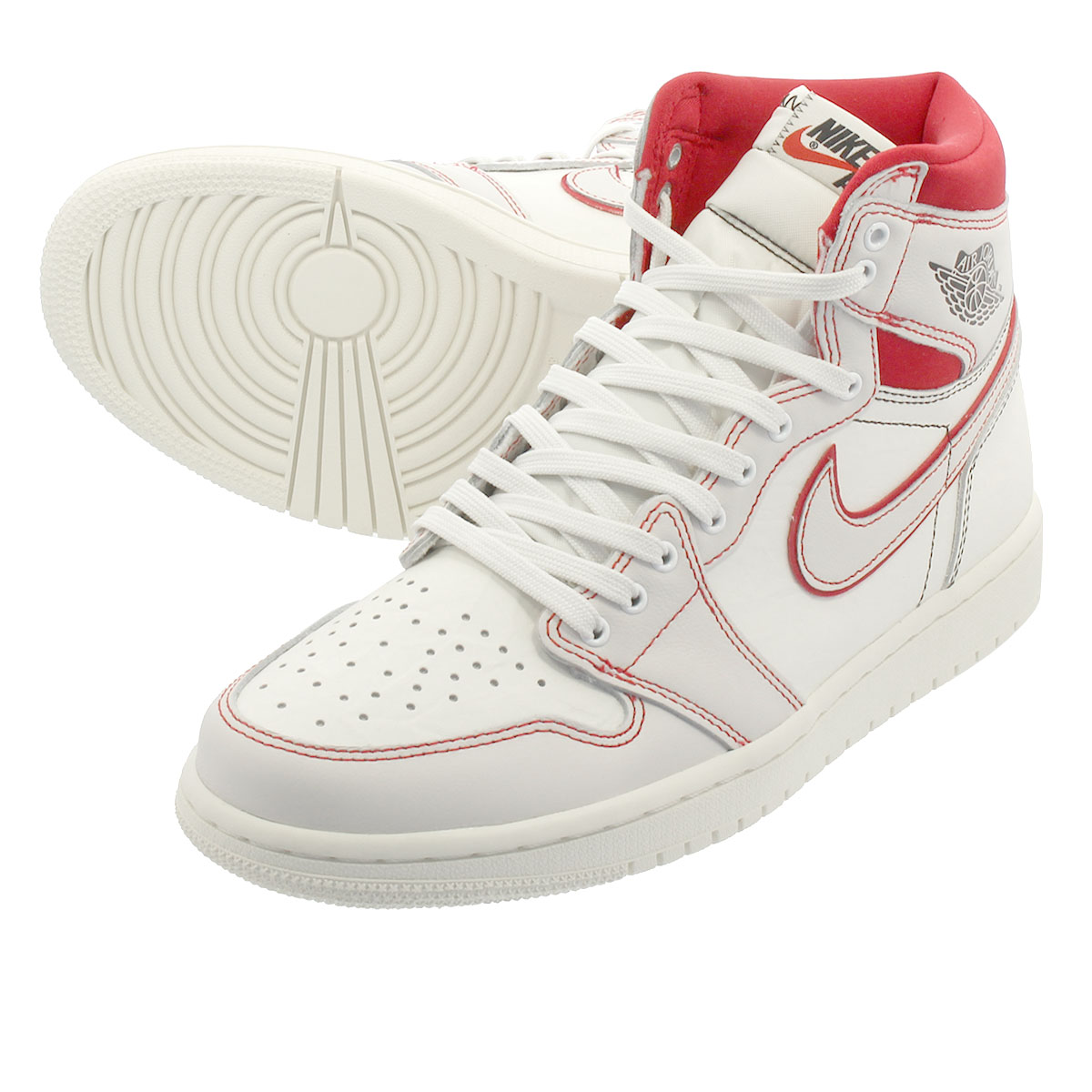 sneakers for cheap 6fd88 c05b8 NIKE AIR JORDAN 1 RETRO HIGH OG Nike Air Jordan 1 nostalgic high OG SAIL  BLACK PHANTOM UNIVERSITY RED 555,088-160