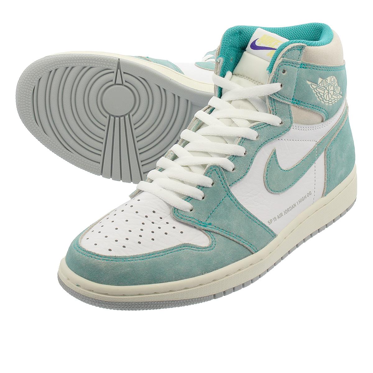 4a946b0ca69 NIKE AIR JORDAN 1 RETRO HIGH OG Nike Air Jordan 1 nostalgic high OG TURBO  GREEN WHITE SAIL LIGHT SMOKE GREY 555